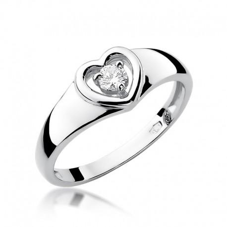 Prsten s diamantem W-1