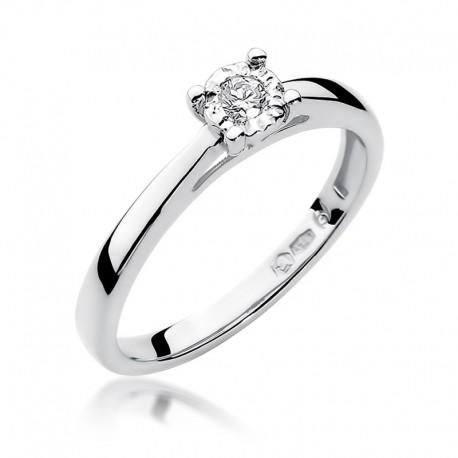 Prsten s diamantem W-7