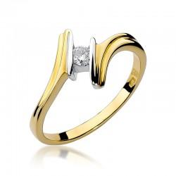 Prsten s diamantem W-8