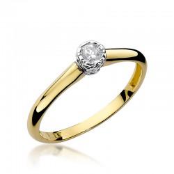Prsten s diamantem W-42