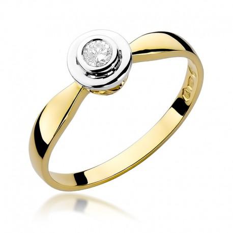 Prsten s diamantem W-294