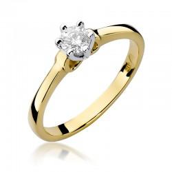 Prsten s diamantem W-296