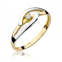 Prsten s diamantem W-186