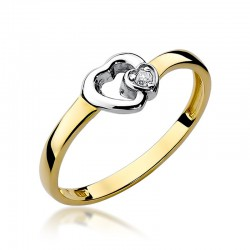 Prsten s diamantem W-188