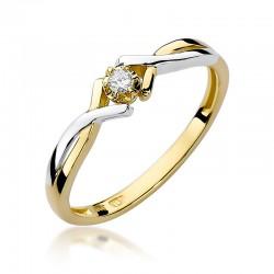 Prsten s diamantem W-190