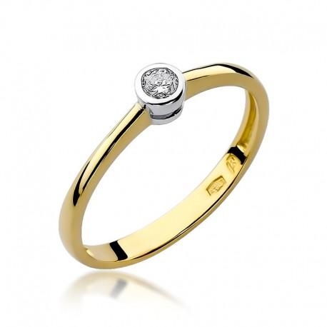 Prsten s diamantem W-224