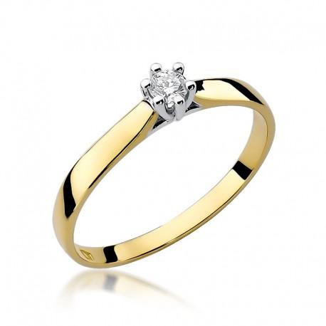 Prsten s diamantem W-222