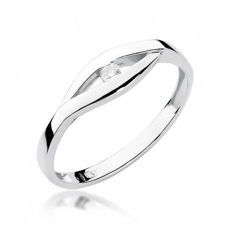 Prsten s diamantem W-194