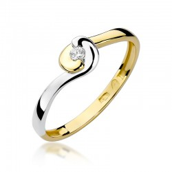 Prsten s diamantem W-195